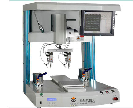 R351DH intelligent double head soldering machi